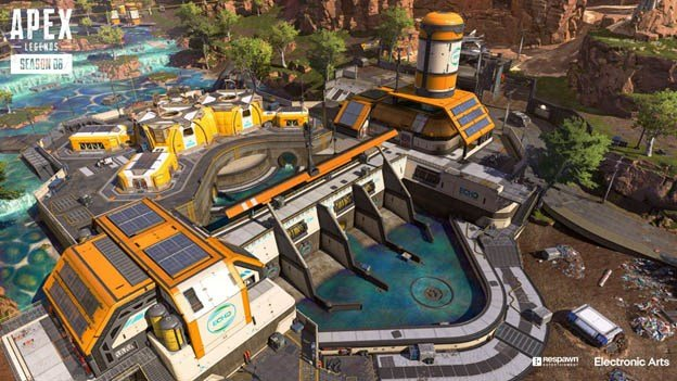 Image of a building from Season 08 of Apex Legends