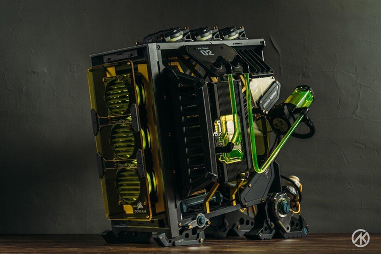 Front left image of MECHA 5000X PC Case Mod by AK Mod TW
