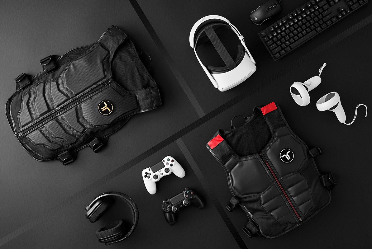 The bHaptics TactSuit X40, TactSuit X16 and associated VR products