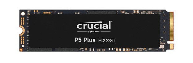 A close up image of Crucial M.2 2280 SSD Solid State Drive