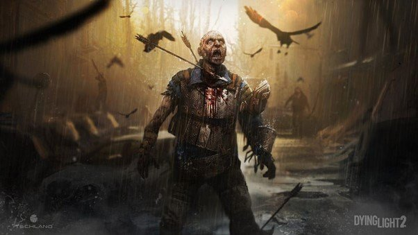 Techland Dying Light 2 Stay Human Digital Artwork depicting a monster shot with arrows