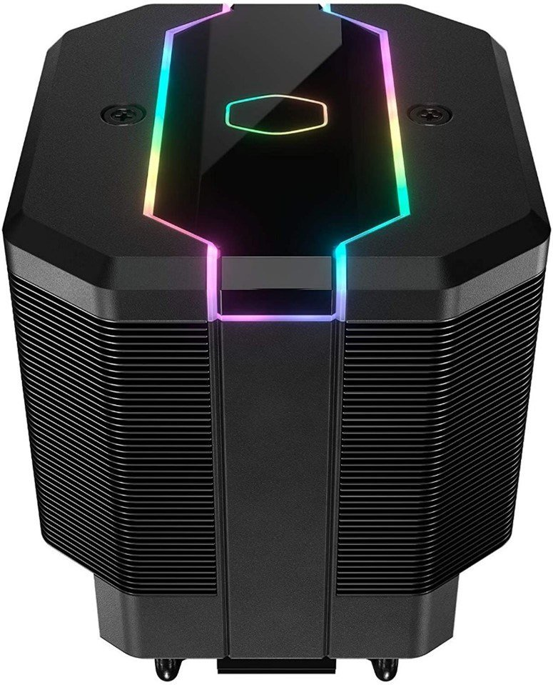The Cooler Master MasterAir MA620M with RGB lighting