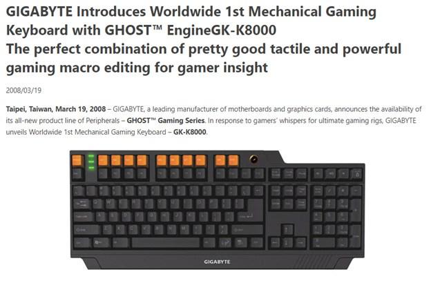 The Worlds 1st Mechanical RGB Gaming Keyboard - The Gigabyte GK-K8000