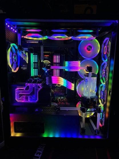 RGB Case Mod for 7000X by DaKrazyKid - Reddit.com