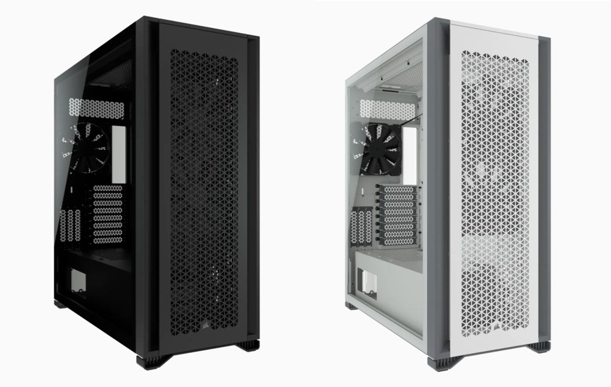Corsair 7000D Side by Side - Black and White Case Options