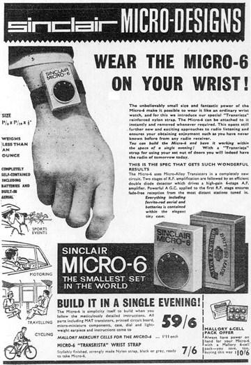 Micro-6 original advertisement circa 1967.