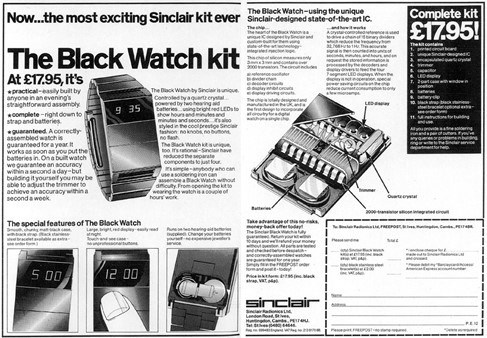 Sinclair's Black Watch kit – original advertisement from the seventies.