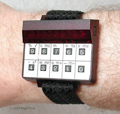 Wrist calculator by Science of Cambridge Copyright Nigel Tout.