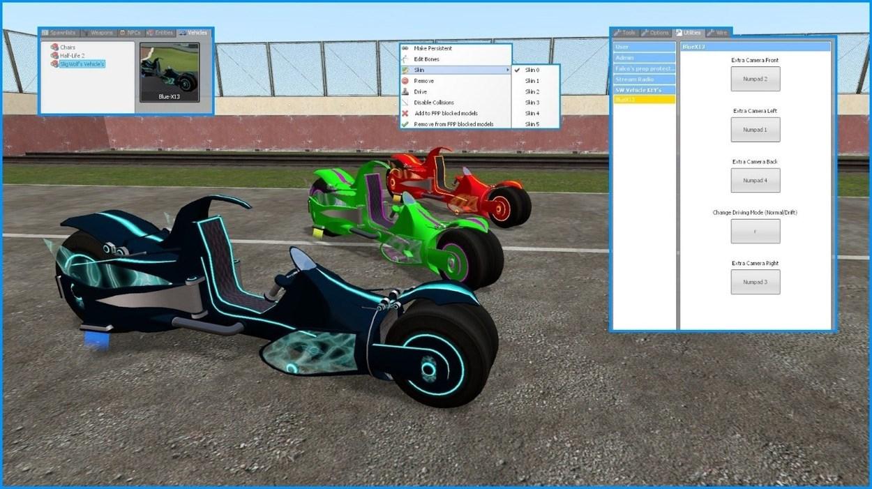 A screenshot from Garry's Mod, SligWolf's Blue-X13.