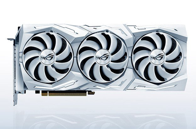 White ROG Strix NVIDIA GeForce RTX 2080 TI OC Edition 11 GB GDDR6 Graphics Card by ASUS.