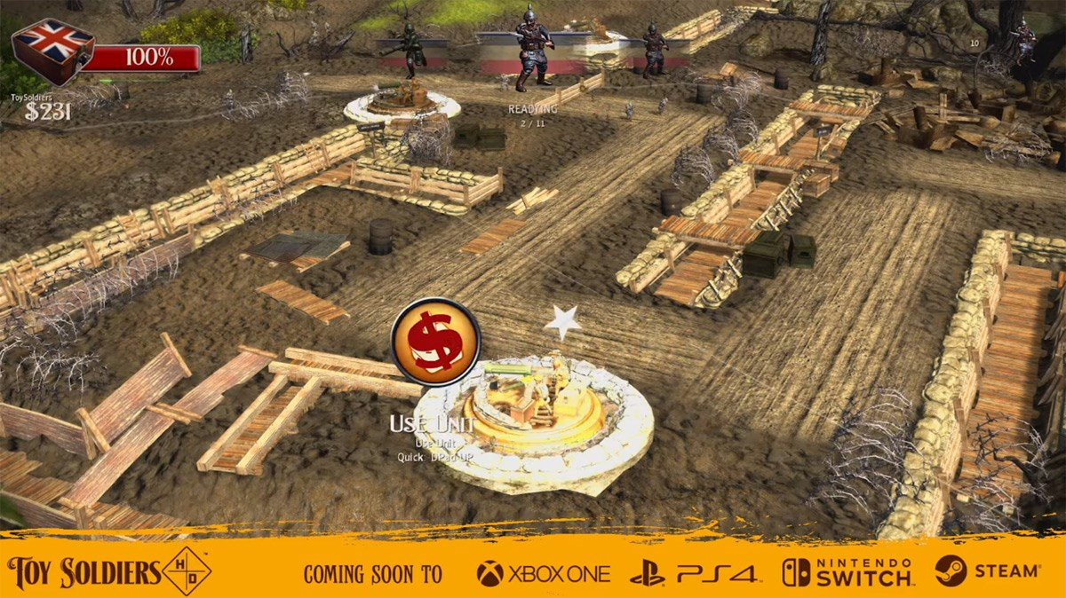 Action strategy controls in Toy Soldiers HD.
