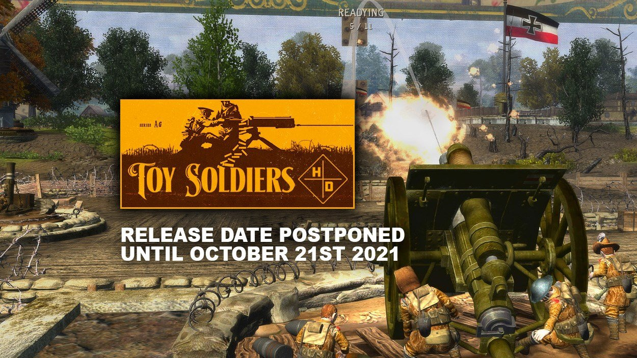 Toy Soldiers HD delayed until October 21st.