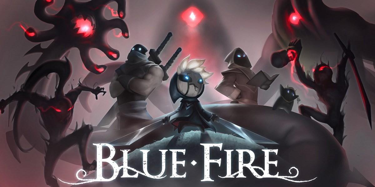 Blue Fire logo.