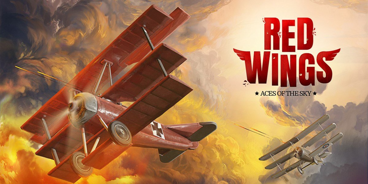 Red Wings: Aces of the Sky logo.