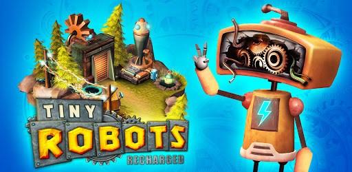 Tiny Robots Recharged logo.