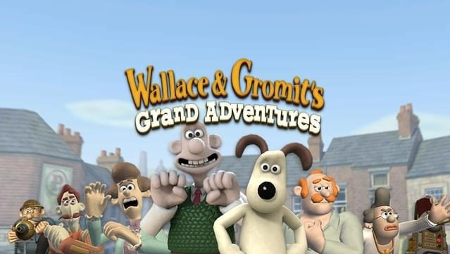 Wallace and Gromit's Grand Adventures logo.