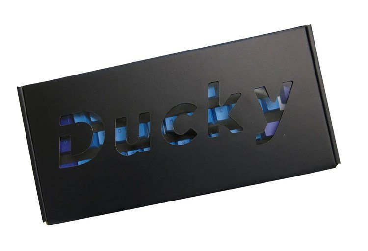 Ducky's packaging for keycaps.