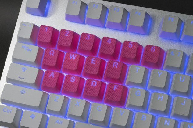 Backlit rubber keycaps from Tai-Hao.