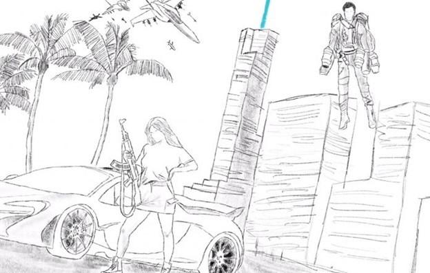 Grand Theft Auto 6 Sketch