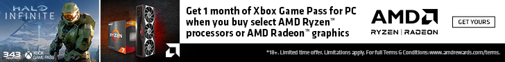 Equipped for Battle - Get one month of Xbox Game Pass for PC with the purchase of selected AMD Ryzen or Radeon components.