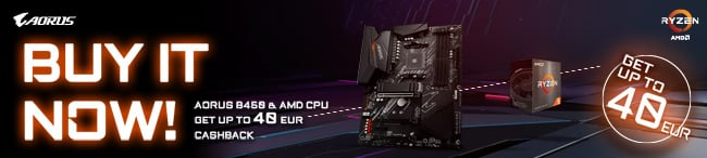 Get up to €40 cashback when you purchase selected Gigabyte motherboards with AMD processors