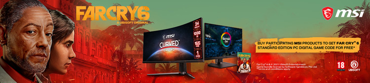 Buy participating MSI products to get Far Cry 6 Standard Edition free