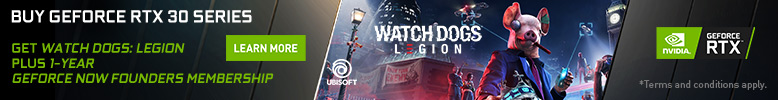 Watch Dogs Legion and GeForce NOW Promotional Banner