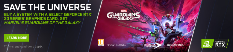 Save the Universe - Buy Select GeForce RTX Desktops, get Marvel's Guardians of the Galaxy