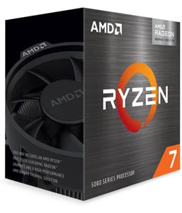 Angled image of the AMD Ryzen 7 5700G box