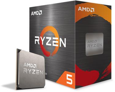 Angled image of the AMD Ryzen 5 5600X box