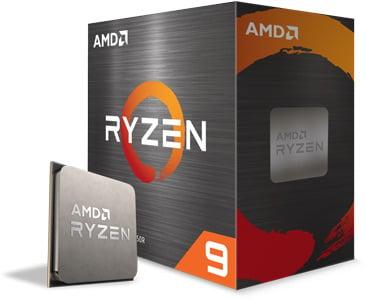 Angled image of the AMD Ryzen 9 5950X box