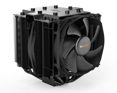 Angled profile of the be quiet! Dark Rock 4 Pro CPU cooler