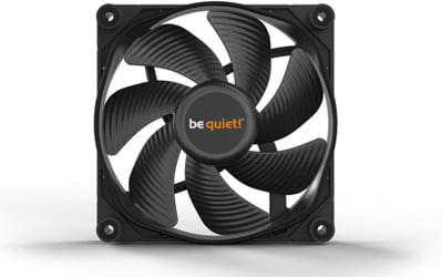 Front view of a be quiet! Silent Wings 3 fan