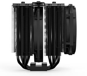 Side profile of the be quiet! Dark Rock Pro 4 CPU cooler