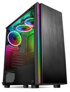A front angled view of the Horizon Ryzen 5 RTX 3060 Gaming PC