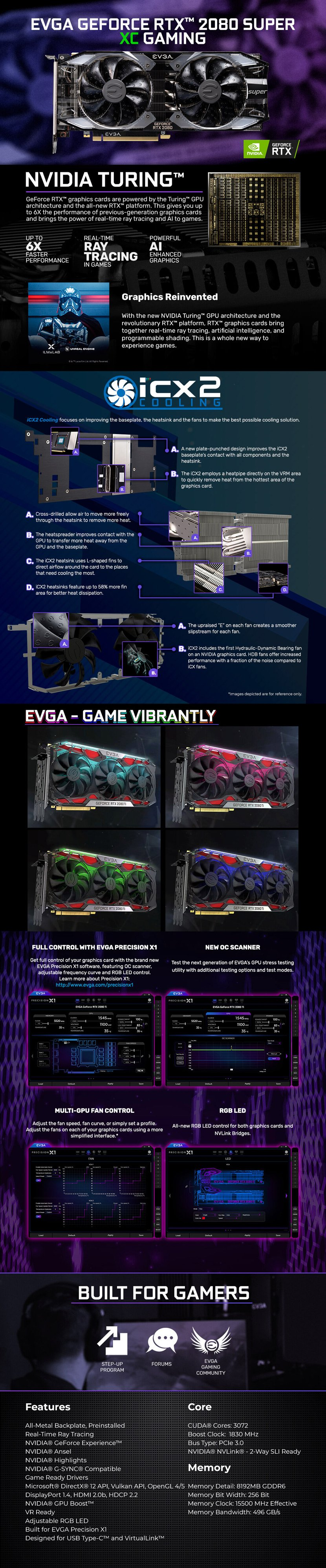 EVGA GeForce RTX 2080 SUPER XC GAMING