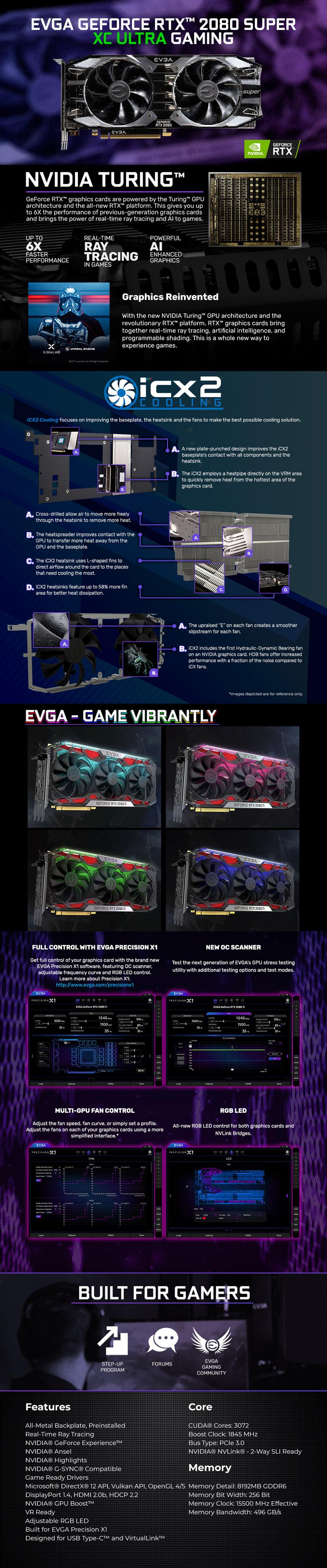 EVGA GeForce RTX 2080 SUPER XC ULTRA GAMING