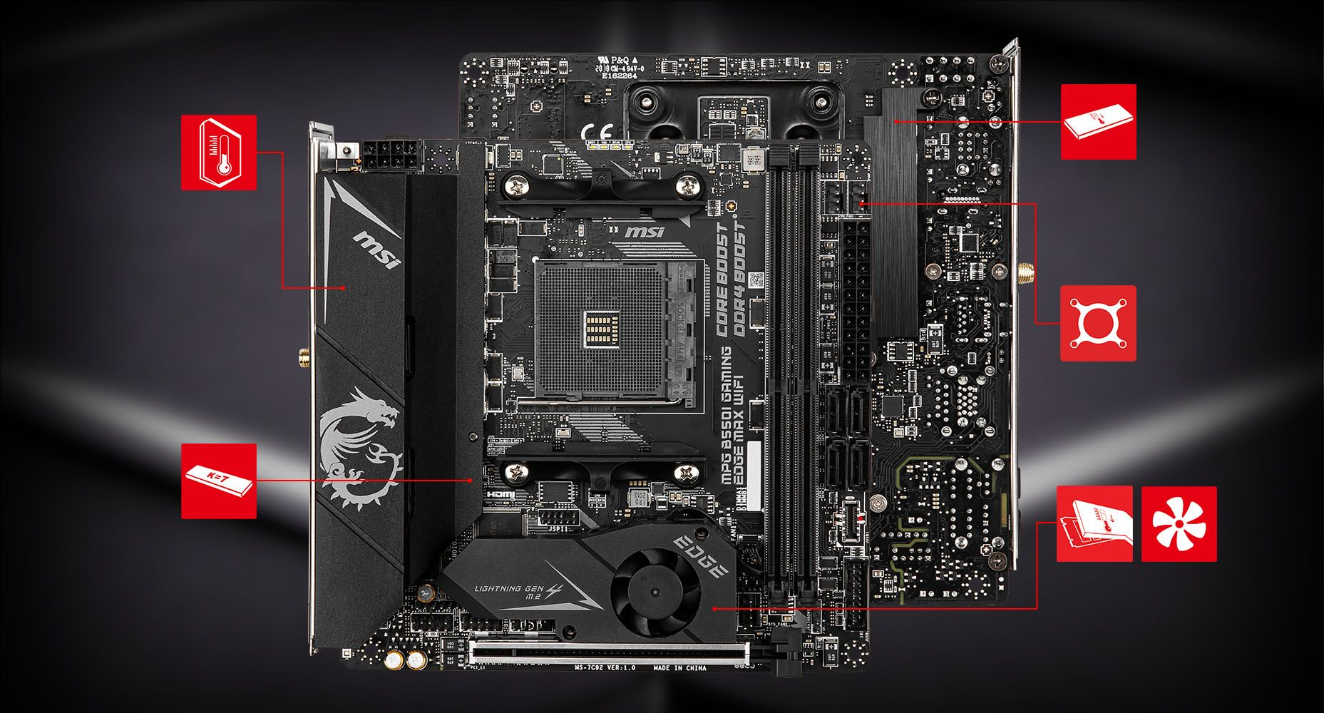 MSI MPG B550I GAMING EDGE MAX WIFI THERMAL overview