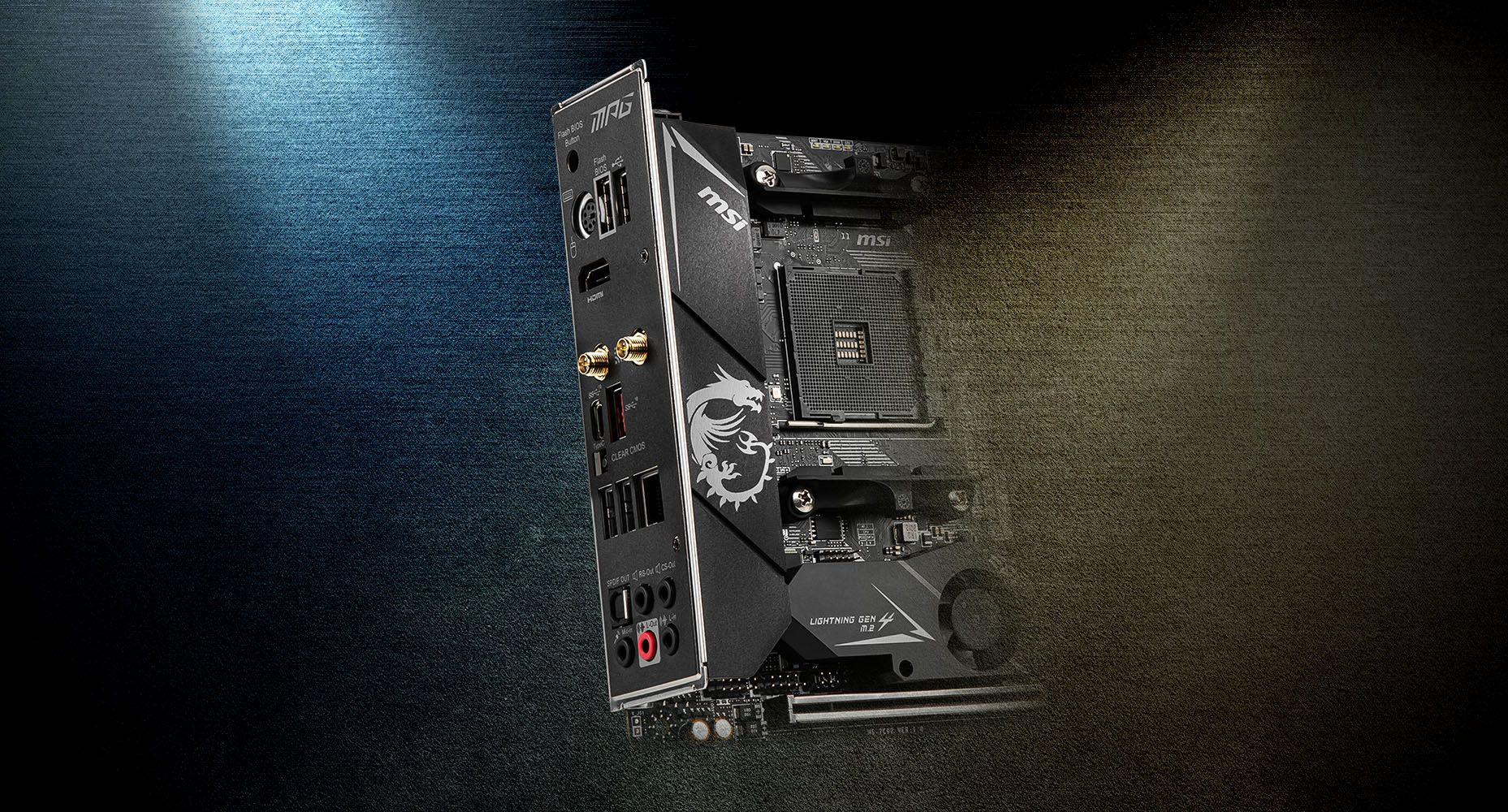 MSI MPG B550I GAMING EDGE MAX WIFI PRE-INSTALLED IO SHIELDING