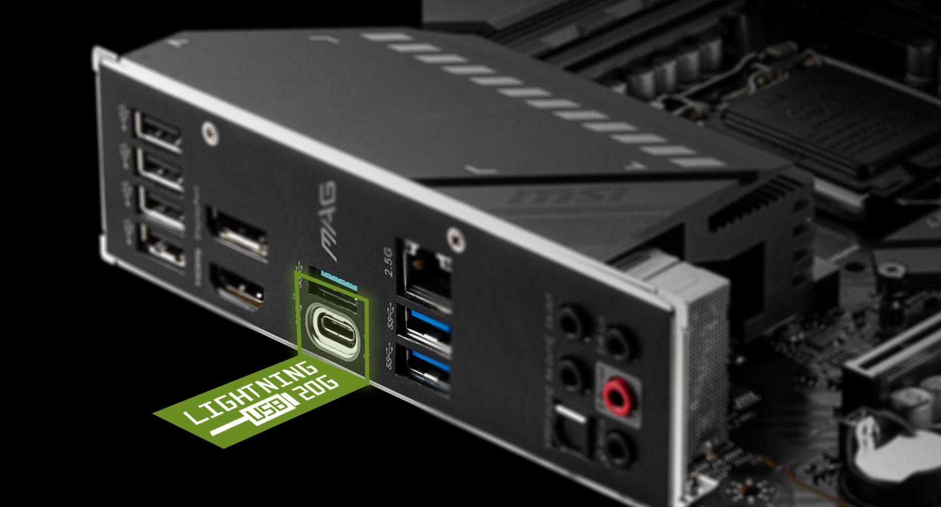 MSI DOUBLE BANDWIDTH WITH LIGHTNING USB 3.2 GEN 2x2 20G