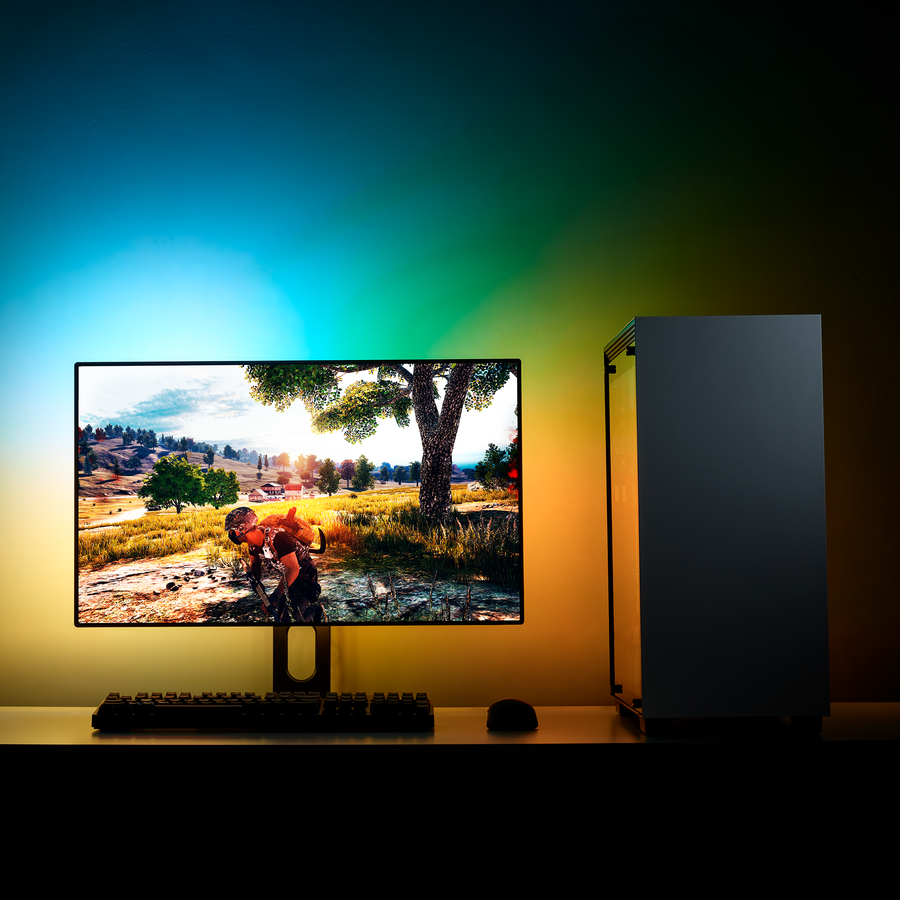 NZXT HUE 2 Ambient RGB Lighting Kit Demonstration Image