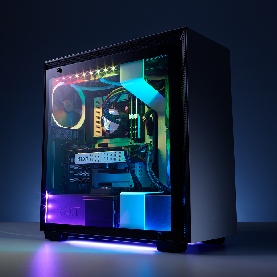 NZXT HUE 2 RGB Lighting Kit Demonstration System