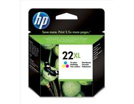 HP 22XL Tri-Colour Inkjet Print Cartridge