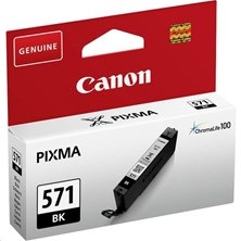 Canon CLI-571BK Black 7ml (Yield 376 Pages) Ink Cartridge