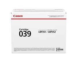 Canon 039 Black (Standard Yield 11,000 Pages) Toner Cartridge