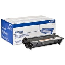 Brother TN-3380 (Yield: 8000) High Yield Toner Cartridge (Black) Pack of 2