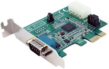 StarTech.com 1 Port Low Profile Native PCI Express Serial Card with 16950