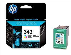 HP 343 Tri-colour Ink Cartridge (7ml) For Deskjet 5740/deskjet 5740xi/deskjet 6840 Printers