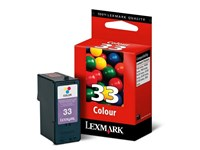 Lexmark No 33 Colour Print Cartridge