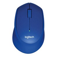 Logitech M330 Silent Plus Wireless Mice (Blue) - Retail